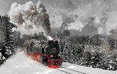 以火车为主题的风光摄影